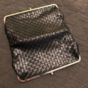 Handbags - Black leather weaved clutch